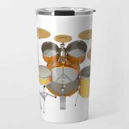 Yellow Drum Kit Travel Mug