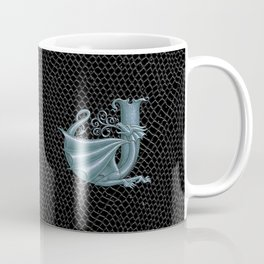 """Dragon Letter J, from """"Dracoserific"""", a font full of Dragons Coffee Mug"""