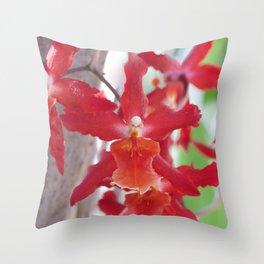 Exquisite Epidendrum Orchids Throw Pillow