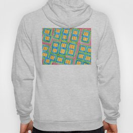 Pastel Colored Striped Squares Pattern  Hoody