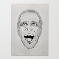 psycho Canvas Prints featuring Psycho by Zé gouveia