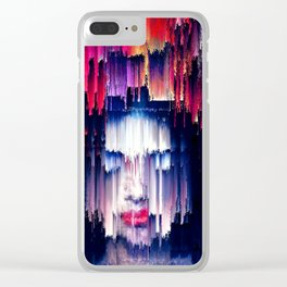 The Rain and purple poetry Clear iPhone Case