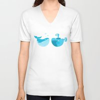 under the sea V-neck T-shirts featuring under the sea by Alapapaju