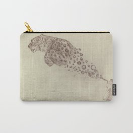 Bubbles the Snow Leopard Carry-All Pouch