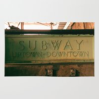 subway Area & Throw Rugs featuring Subway by Kimball Gray