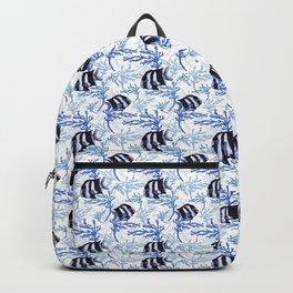 Damselfish in Blue Coral Backpack
