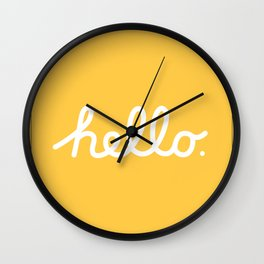 Hello: The Macintosh Office (Yellow) Wall Clock