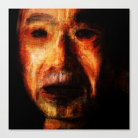 murakami Canvas Prints featuring Portrait of Haruki Murakami by H.L. Goyer