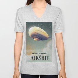 Travel the World by Airship Unisex V-Neck