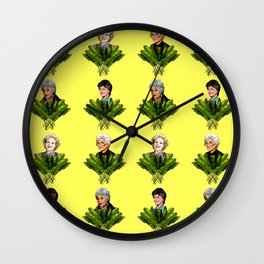 Keep It Golden Girl Wall Clock