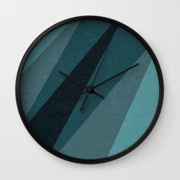 Six Shades of Sea Wall Clock