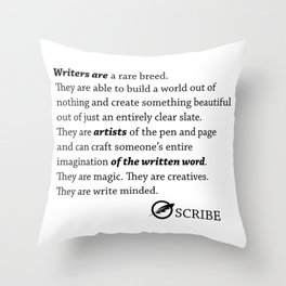 Scribe Write Minded  Throw Pillow