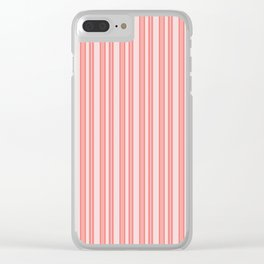 Coral Ticking Clear iPhone Case