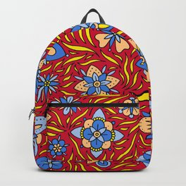 Summer Flowers Red Backpack