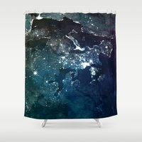 europe Shower Curtains featuring Europe UpsideDown by Marco Bagni