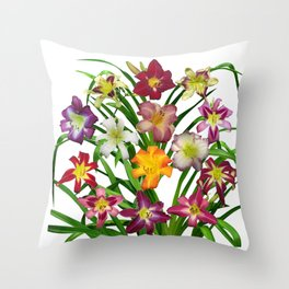 Display of daylilies II Throw Pillow