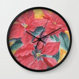 Poinsettia 2 Wall Clock