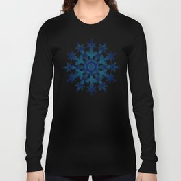 Snowflake Medallion Pattern 1 Long Sleeve T-shirt