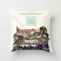 island Throw Pillows featuring island Vacation by Dawn Gardner