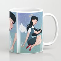 downton abbey Mugs featuring Abbey by Katherine Galo