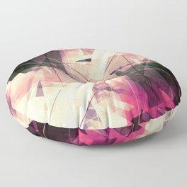 Future Punk - Geometric Abstract Art Floor Pillow