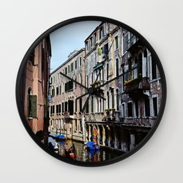 Venice the city of Canals Wall Clock