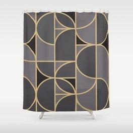Art Deco Morning Dance In Grey Shower Curtain