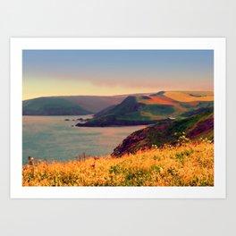 Painted Devon Art Print