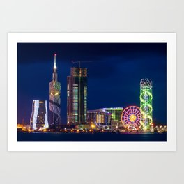 A cityscape of Batumi, Georgia Art Print