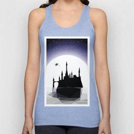 Moonlight Stanza - Night Sea, Castle & the Moon Unisex Tank Top