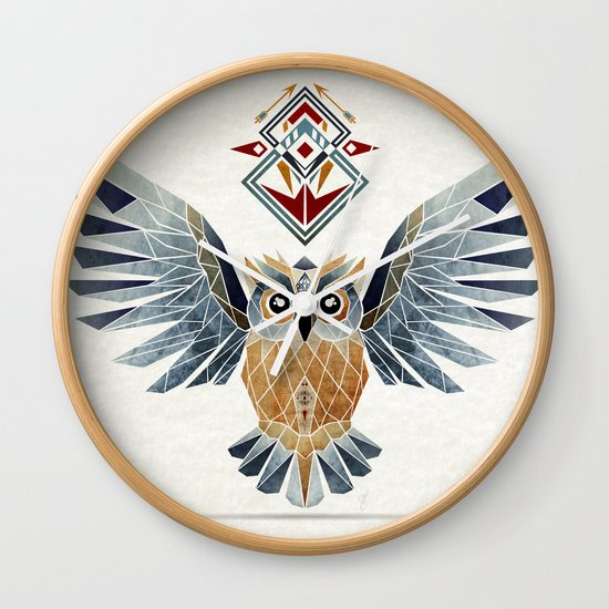 owl winter Wall Clock