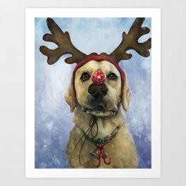 Holiday Lab Art Print