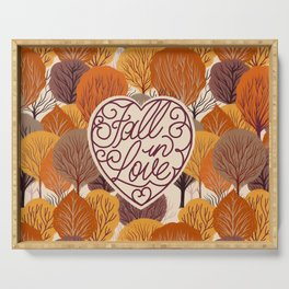 Fall in Love Serving Tray