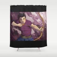 archer Shower Curtains featuring The Archer by VanillaDeonna