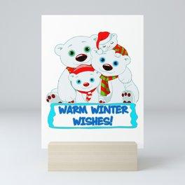 WARM WINTER WISHES Mini Art Print