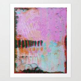 Number Nine (Pink and Blue (Not Cyberpunk)), 2018 Art Print