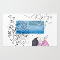gemma Area & Throw Rugs featuring Maighdean of sorrow by Gemma Ackerman