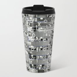 Knowing Wink (P/D3 Glitch Collage Studies) Travel Mug