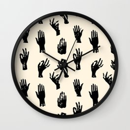 Witch hands pattern. Repeated vector illustration. Wall Clock