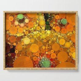 Sunset Poppies Serving Tray