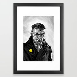 the watched man (ipod touch fingerpainted) Framed Art Print