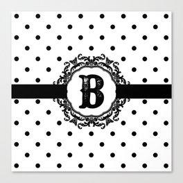 Black Monogram: Letter B Canvas Print
