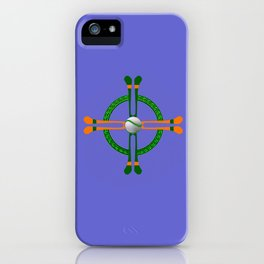 Hurley and Ball Celtic Cross Design - Solid colour background iPhone Case
