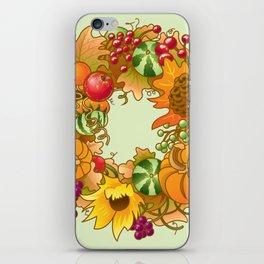 Fall Wreath iPhone Skin