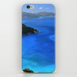 myrtos beach, kefalonia iPhone Skin