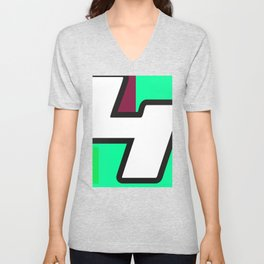 Number POP-4 Unisex V-Neck