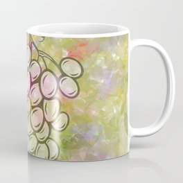 Bunch of grapes with colorful background Coffee Mug