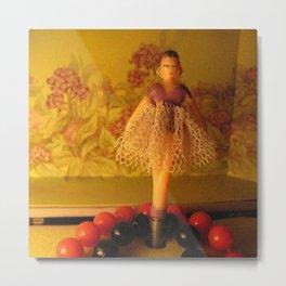 Doll on a Music Box Metal Print