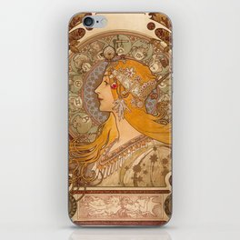 Zodiac by Alphonse Mucha, 1896 iPhone Skin