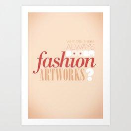 Boobs on fashion. A simple question. Art Print